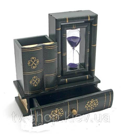 Часы песочные с подставкой Книги
