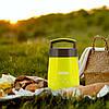 Термос харчовий для супу Kamille Жовтий 1400мл пластиковий зі скляною колбою KM-2022, фото 7