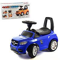 Машинка-каталка толокар, детская машинка с электроникой, 2-002-DB, синяя