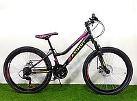 Горный двухподвесный велосипед Azimut Power 24 GD+, рама 17