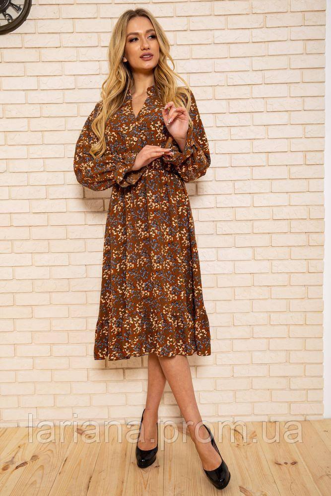 Платье женское 115R393-7 цвет Коричневый