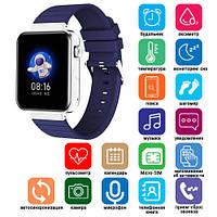 Смарт часы Smart Watch Mi5 pro, Sim card + камера, температура, blue