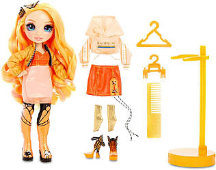 КуклаРейнбоу Хай Поппи РоуэнRainbow Surprise Poppy Rowan оранжевая Оригинал MGA