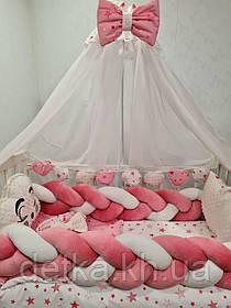 Детский постельный комплект в кроватку, одеяло-конверт