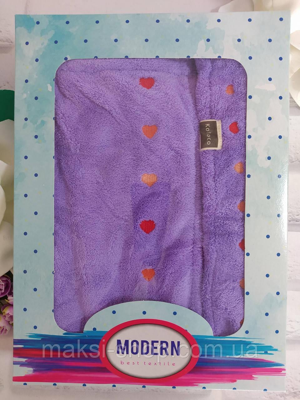 Набор для сауны бани подарочный 2в1 полотенце плюш микрофибра р .75х125 см с челмой Koloco