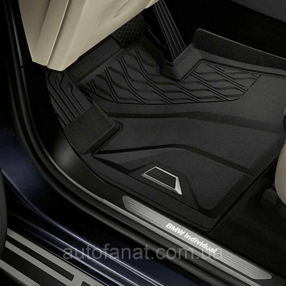 Оригинальные резиновые передние высокие коврики BMW X5 (G05), X6 (G06), X7 (G07) ( 51472458559)