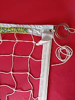 Сітка для класичного волейболу «ЕКСКЛЮЗИВ» з тросом біла, Залишки №110