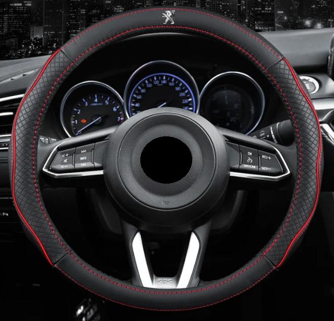 Чохол оплетка Circle Cool на кермо для автомобіля Peugeot c логотипом