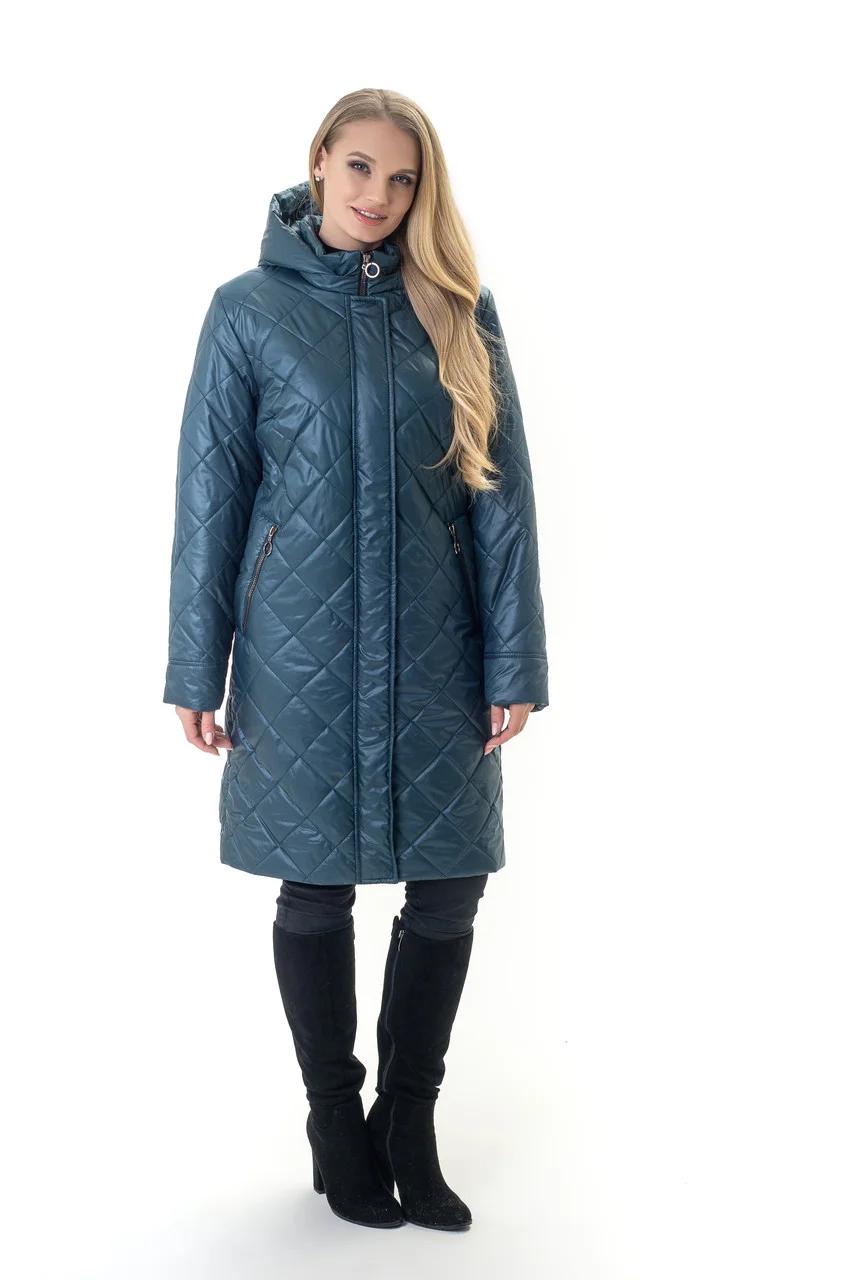 Жіночі демісезонні куртки великих розмірів 54-70 малахіт