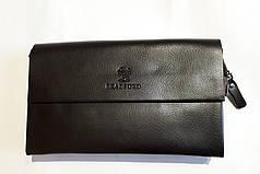 Мужской клатч барсетка с плечевым ремнем коричневая эко кожа 23*15 Bradford 886-9