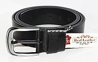 Мужской кожаный ремень, классический (под джинсы), большой размер! 160см.Черный. Турция.