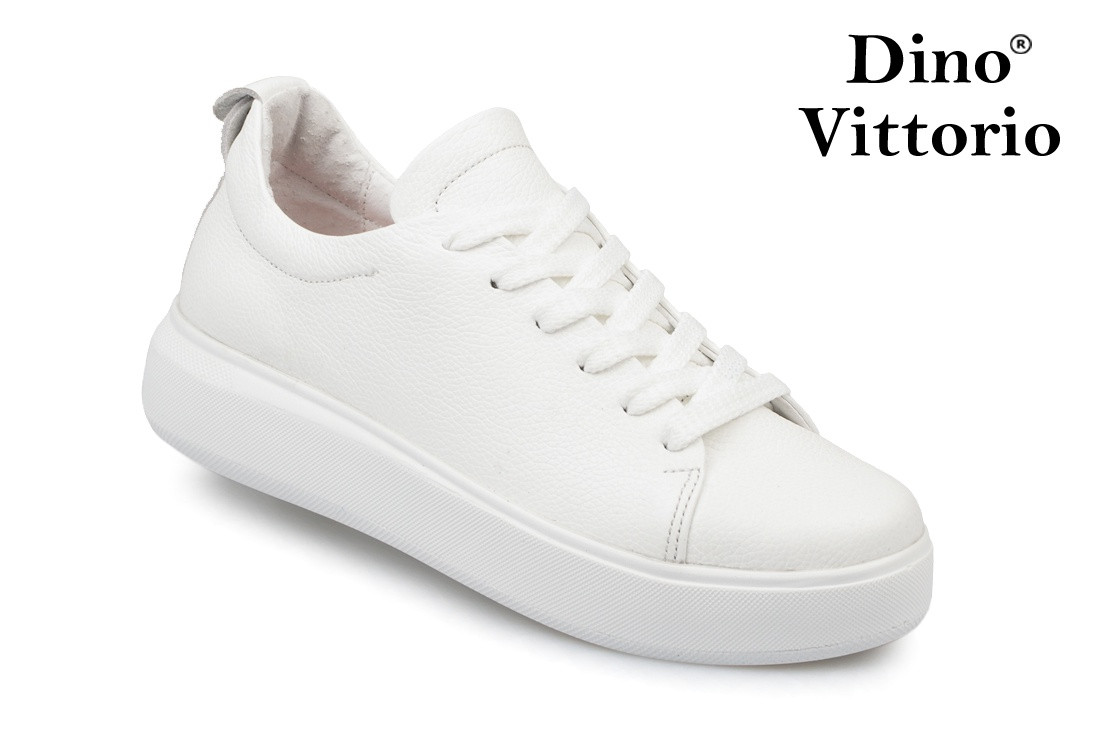 Жіночі білі кеди/кріпери натуральна шкіра Dino Vittorio