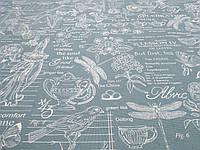 Ткань Для Скатертей Рогожка Биология2, фото 1