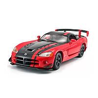 Автомодель - DODGE VIPER SRT10 ACR   (ассорти оранж-черн металлик, красн-черн металлик, 1:24), фото 1
