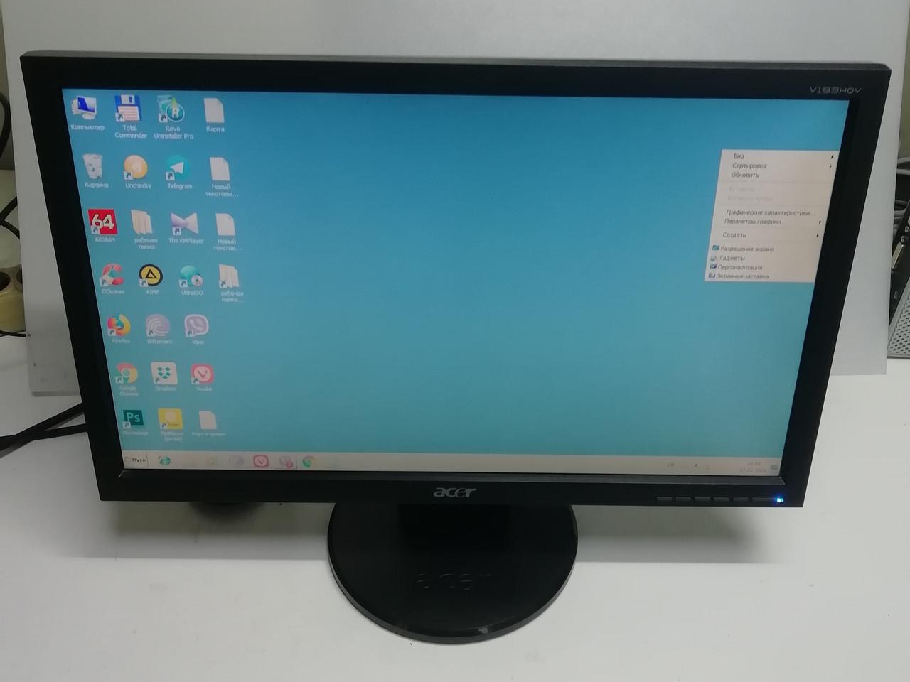 """Швидкий широкоформатний РК монітор 18.5"""" Acer V193HQV"""