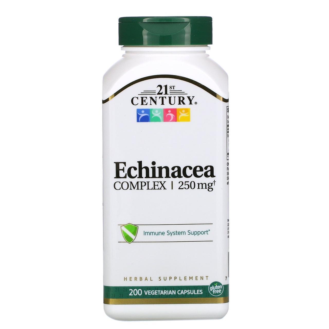 Екстракт ехінацеї, 21st Century Health Care, 200 капсул