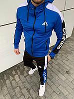 Спортивный костюм Adidas Адидас. Мужской спортивный костюм Adidas весна. Спортивний костюм Adidas Синий, 48