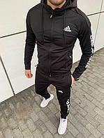 Спортивный костюм Adidas Адидас. Мужской спортивный костюм Adidas весна. Спортивний костюм Adidas Черный, 48