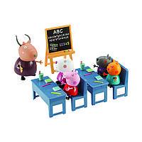 Игровой набор Peppa - ИДЕМ В ШКОЛУ (класс, 5 фигурок), фото 1