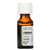 Эфирное масло лимонной травы (Lemongrass), Aura Cacia,вдохновение, 15мл