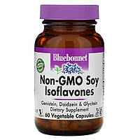 Соевые Изофлавоны, Non-GMO Soy Isoflavones, Bluebonnet Nutrition, 60 капсул