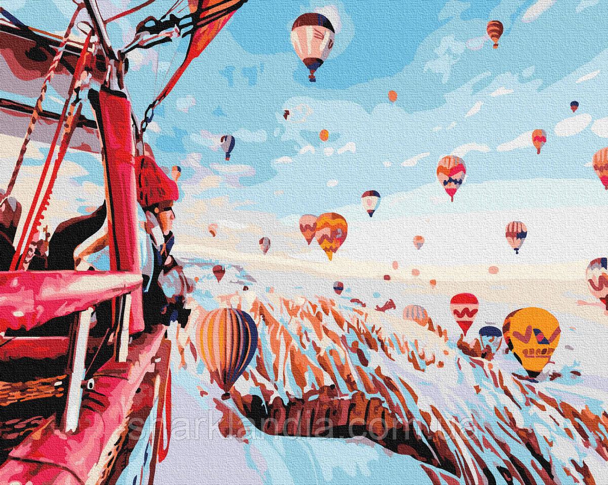 Картина за номерами Кулі зимової Каппадокії 40х50см RainbowArt