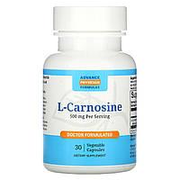 L-карнозин, L-Carnosine, Advance Physician Formulas, 30 капсул.