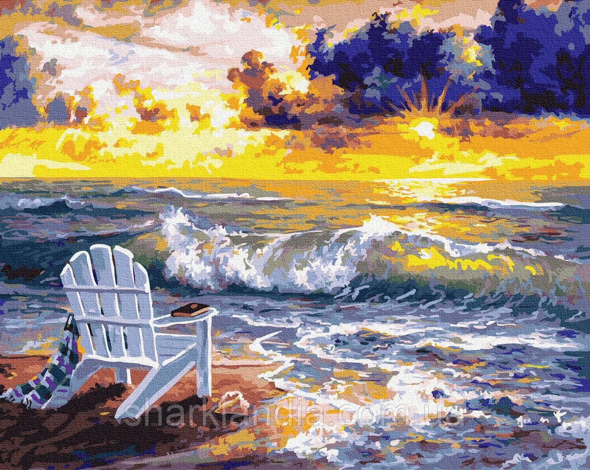 Картина за номерами Місце з видом на море 40х50см RainbowArt