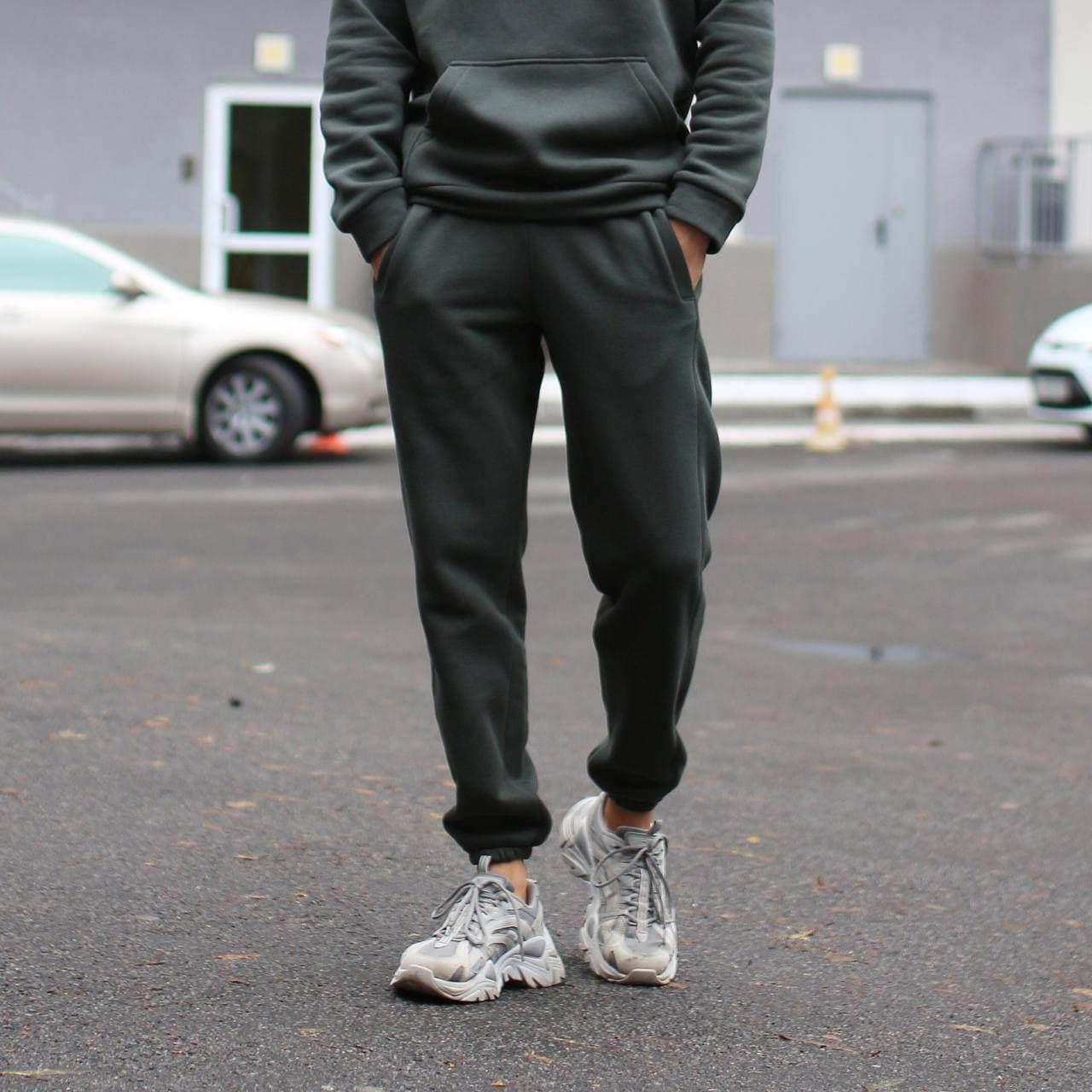 Спортивные штаны мужские в цвете хаки База от бренда ТУР,размер: XS, S, M, L, XL