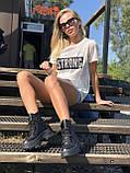 Жіночі черевики високі базові HBM Mac, чорний, натуральна шкіра, всередині шкіра+хутро+байка, 37 розмір, фото 2