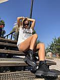Жіночі черевики високі базові HBM Mac, чорний, натуральна шкіра, всередині шкіра+хутро+байка, 37 розмір, фото 3