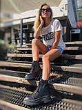 Жіночі черевики високі базові HBM Mac, чорний, натуральна шкіра, всередині шкіра+хутро+байка, 37 розмір, фото 4