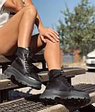 Жіночі черевики високі базові HBM Mac, чорний, натуральна шкіра, всередині шкіра+хутро+байка, 37 розмір, фото 5