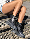 Жіночі черевики високі базові HBM Mac, чорний, натуральна шкіра, всередині шкіра+хутро+байка, 37 розмір, фото 6