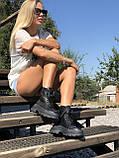 Жіночі черевики високі базові HBM Mac, чорний, натуральна шкіра, всередині шкіра+хутро+байка, 37 розмір, фото 7
