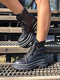 Жіночі черевики високі базові HBM Mac, чорний, натуральна шкіра, всередині шкіра+хутро+байка, 37 розмір, фото 8
