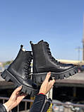 Жіночі черевики високі базові HBM Chelsey, чорний, натуральна шкіра, всередині шкіра+хутро+байка, 39 розмір, фото 2