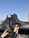 Жіночі черевики високі базові HBM Chelsey, чорний, натуральна шкіра, всередині шкіра+хутро+байка, 40 розмір, фото 2