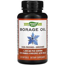 "Бурачник nature's Way ""EfaGold Borage"" масло огірочника, 1300 мг (60 капсул)"