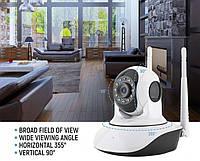 IP Камера видео-наблюдение, WI-FI камера, онлайн поворотная, ночное видение. Гарантия 12 м