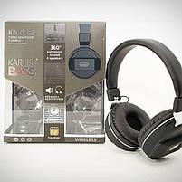 Бездротові Bluetooth-навушники Karler 360, вбудований мікрофон для телефонних розмов, фото 2