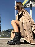 Жіночі черевики високі HBM Prado, чорний, натуральна шкіра, всередині шкіра+хутро+байка, 39 розмір, фото 3