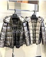 Двостороння Куртка з норкою, наявність у 44-50р, фото 1