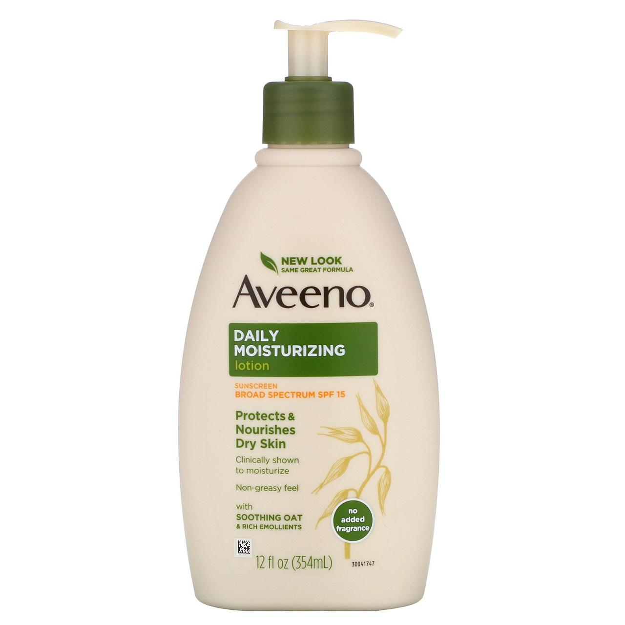 Лосьон с солнцезащитным кремом SPF 15 (Lotion with Sunscreen), Aveeno, 354 мл