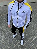 Спортивный костюм мужской Adidas Адидас Белый. Весенний спортивный костюм Adidas.Спортивний костюм Adidas