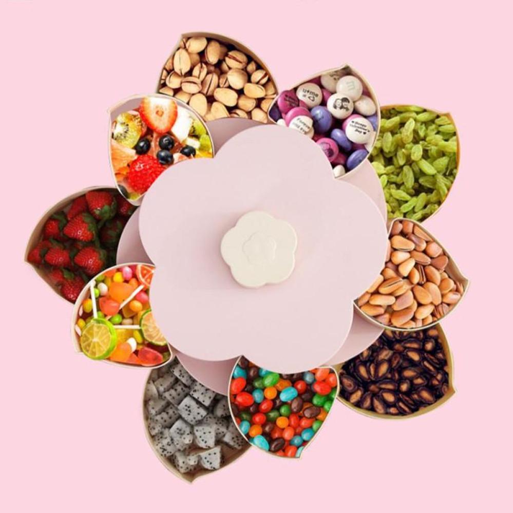 Органайзер  для солодощів універсальний оборотний Candy Box 2 яруси Менажниця для закусок фруктів і солодкого