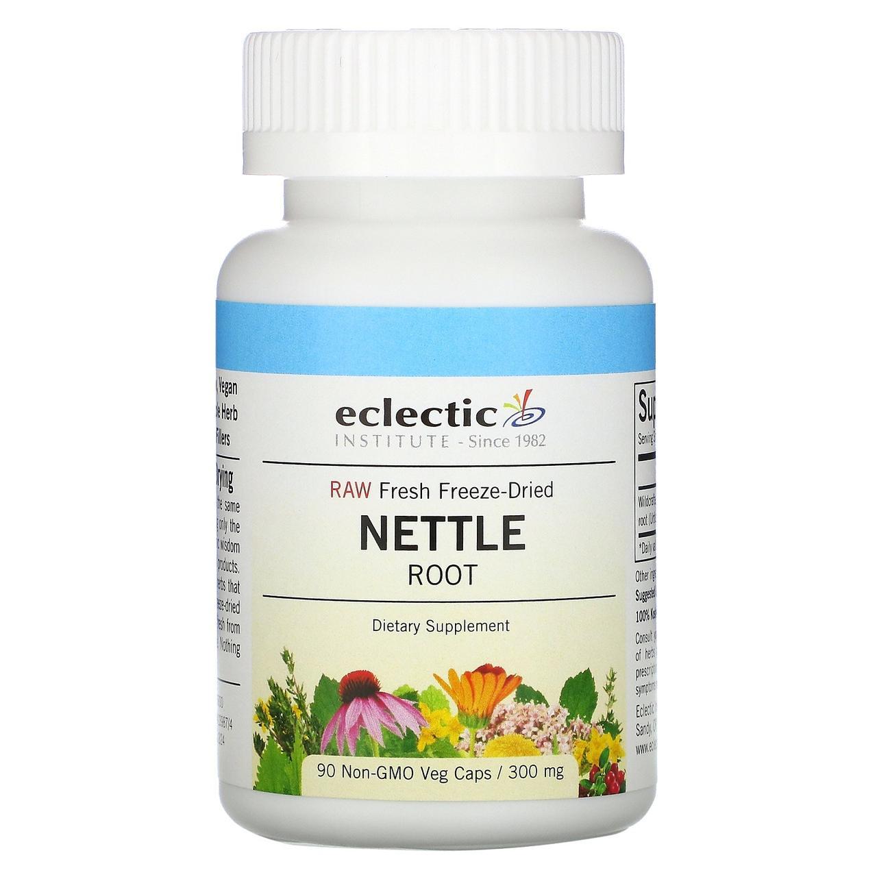Крапива корень (Nettle Root), Eclectic Institute, 250 мг, 90 кап.