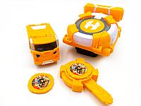 Игрушка Лига Вотчкар (машинка Поти и Мару) + запускалка Watch Car желтый