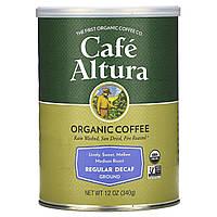 Cafe Altura, Органический Кофе, Регулярной Обжарки, Без Кофеина 12 унции (339 г)