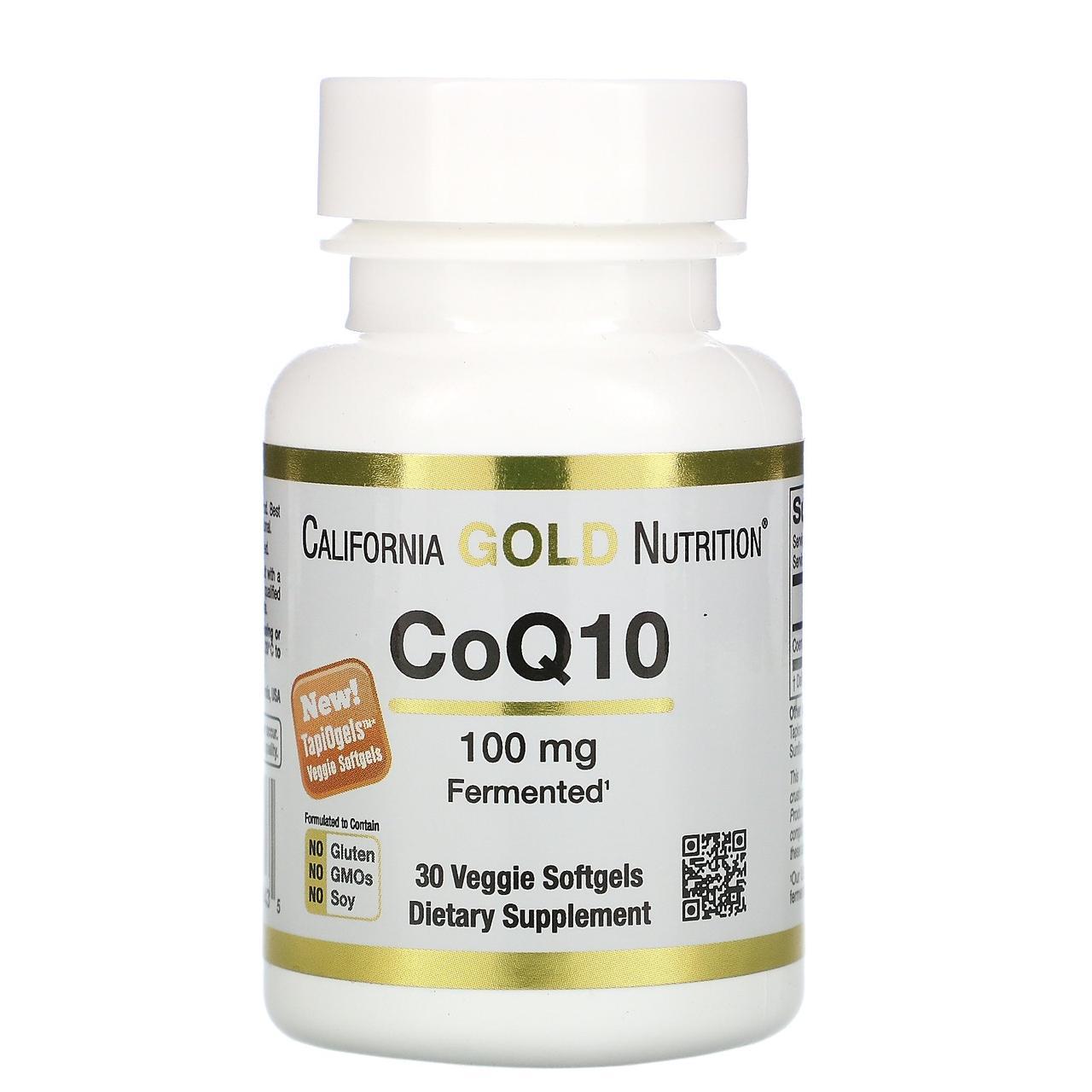 Коэнзим Q10, California Gold Nutrition, CoQ10, 100 мг, 30 капсул
